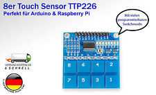 Kapazitiv Sensor Modul Touchsensormodul TTP226 8 Tasten für Arduino Raspberry pi