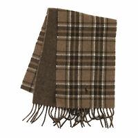 Polo Ralph Lauren 2-face Lambswool Scarf Plaid made in Italy - Honey Brown -