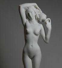 """Große Nackte Weibliche Frau Alabaster Statue Skulptur Erotische Kunst 15.6"""""""