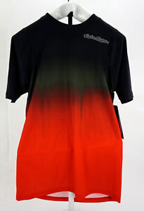 Troy Lee Designs Men's Skyline Cycling Jersey Short Sleeve Small Black/Red  MTB
