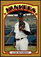 Luis Severino 2021 Topps Heritage 5x7 Gold #383 /10 Yankees