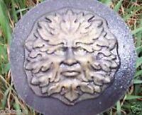 Small green man plastic mold garden casting face concrete plaster mold