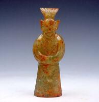 Antique Jade Hand Carved Sculpture Ancient Emperor #11091502