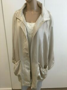 Maggie T Ladies Size 1 (16-18) Fully Lined Beige Jacket - RRP $250
