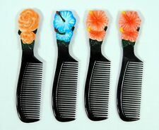 Wholesale Pack Hand Painted Flower Blue Lily Red Rose Comb (Set of 12) HB29F