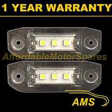 2X FOR VOLVO S80 S40 V50 2004 On 3X SMD5050 WHITE LED NUMBER PLATE LIGHT LAMPS