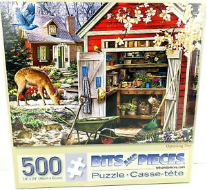 Bits & Pieces 500 Piece Jigsaw Puzzle Opening Day Springtime 18 x 24 Larry Jones