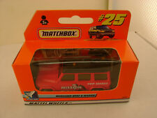 1999 MATCHBOX SUPERFAST #25 MERCEDES-BENZ G-WAGON TOP SECRET MISSION NEW IN BOX