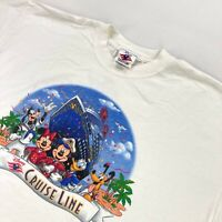 Disney Cruise Line DCL Men's Signature Short Sleeve T-Shirt White • 3XL