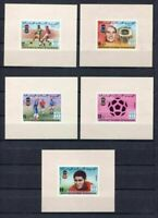 S5398) Mauretanien 1978 MNH Wc Football - World Cup FUSSBALL S/S x5 Imperf