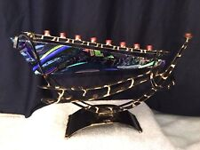 Gary Rosenthal Collection - Glass Menorah YK1 - Mint Condition