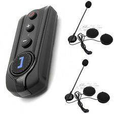 BT-S1 Bluetooth1000m Intercom Motorcycle Helmet Headset FM Radio+Free F1
