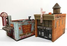 Downtown Deco HO Scale Atomic cafe Sisters of Mercy Combo + Free $25 Sidewalks.
