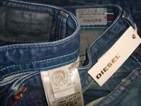 NWT$348 DIESEL THAVAR DNA Slim Skinny Men's Made in ITALY W-0816K Jeans Sz 30x32