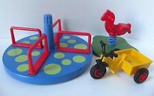 Playmobil Dollshouse/Patio De Juegos/Juguetes de la escuela: rotonda, Caballo & Triciclo * Nuevo *