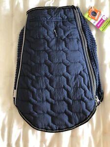 Top Paw Lightweight Packable Coat Reflective Blue Size Medium