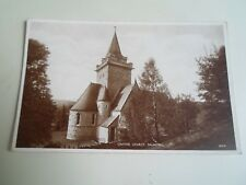 Vintage Photo Brown Picture Postcard CRATHIE CHURCH, BALMORAL    §A1684