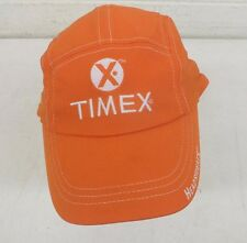 Headsweats Timex CoolMax Machine Washable Adjustable Size Race Hat Orange NEW
