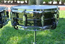 1909-2009 LUDWIG USA 100th ANNIVERSARY HAMMERED BLACK BEAUTY SNARE DRUM! #B627