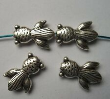 10pcs Tibetan silver fish charms spacer bead 23x16x5.5 mm