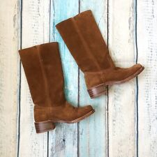 Vintage Frye Sz 7.5 Womens Boots Brown Suede Leather