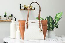 Michael Kors Шарлотта ванильный фирменный кожаный большой Tz дамская сумка сумочка кошелек сумка