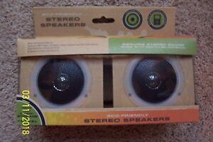 Set of 2 ECO-FRIENDLY Stereo Speakers - NIB