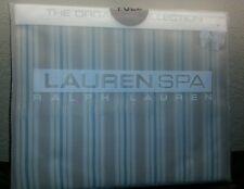 New Ralph Lauren Spa Full Flat Sheet 100% Organic Cotton Seaside Retreat Stripe