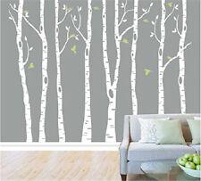 Big Birch Tree Wall Decal Removable Vinyl Tree Wall Sticker Nursery Home 8pcs