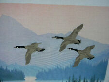 Completed Colorart Crewel by John Sojvani CANADA GEESE IN FLIGHT - 24x20 JCA New