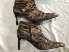 Lunar Crocodile Look Pointed Toe Boots Booties New with the Box