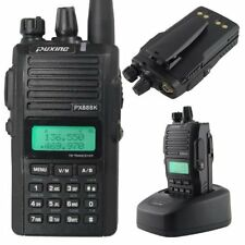 New PX-888k uhf/vhf 9w dual band fm walkie talkies 2 way radios ham handheld