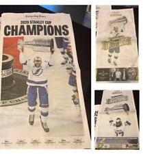 Tampa Bay Lightning 2020 Stanley Cup Newspaper Tampa Times 9/29/20 + 2 editions