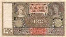 100 Gulden 1942 Niederlande Banknote Serie GJ
