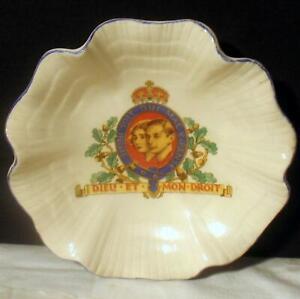 "King George VI & Queen Elizabeth 1937 England J&G Meakin Coronation Bowl 5.5"" VG"