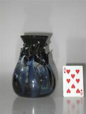 Blue Glass Vase Hand Made & Mouth Blown Art Nouveau