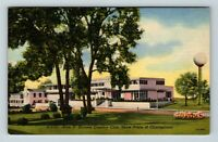 Chicago IL, Tam O'Shanter Country Club, Water Tower, Linen Illinois Postcard A27