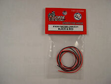 GOFER RACING 1/24 AND 1/25 SCALE RED AND BLACK BATTERY CABLES MODEL CAR PART