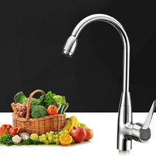 Swivel Spout Kitchen Single Handle Sink Faucet Pull Down Spray Mixer Tap Steel