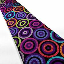 New Silk Tie Multi-color Black Orange Turquoise Red Pink Violet Lawrence Ivey