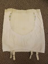 Curvaceous Vtg 1950s NEW Rayon & Rubber Open Bottom Garters Girdle S Girly Pinup