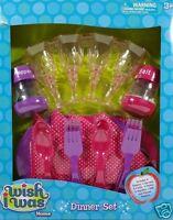 Girls Pink Purple Dinner Pretend Play Set 18pcs Serves 4 Ages 3+