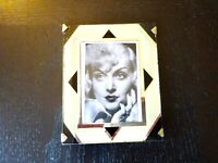 "Art Deco Reverse Painting Frame Glass Vintage Mid Century 4""x5"" Photo"
