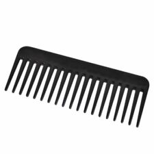 19 Teeth Wide Tooth Comb Black ABS Plastic Heat-resistant Large Wide Tooth Comb