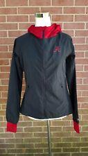 Womens Alabama CRIMSON TIDE Colosseum Jacket Windbreaker Hooded Grey/ Red Sz S