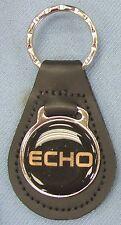 Vintage Black Toyota ECHO Black Leather USA Keyring Key Fob Key Holder
