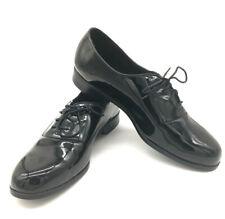 BARCLAY Black Patent Lace Up Tuxedo Dress Shoes Men's Size 13W NC007