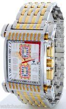 Aqua Master Men's Gold Two Tone Band Diamond White Dial Quartz Watch W#330