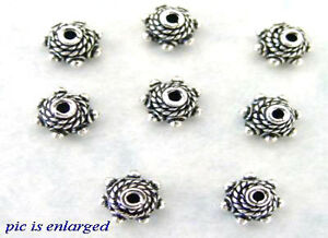 Genuine Bead and Rope Bali Sterling Silver Bead caps 6MM