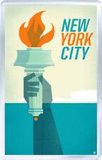 NEW YORK CITY USA SERIES FRIDGE MAGNET SOUVENIR NEW